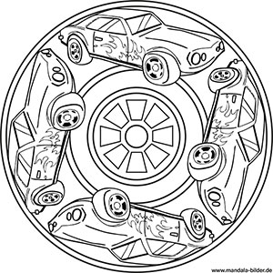 Auto Mandalas Kostenlose Ausmalbilder Fur Kinder