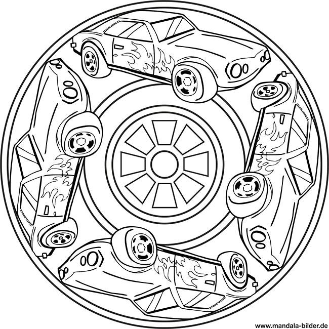 Auto Mandala Ausmalbild Für Jungs Ab 8 Jahre