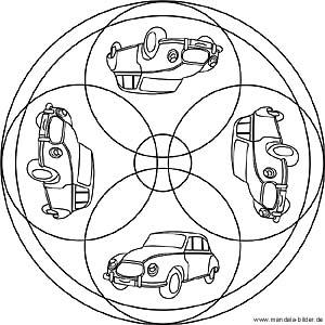 Auto Mandalas - Kostenlose Ausmalbilder für Kinder