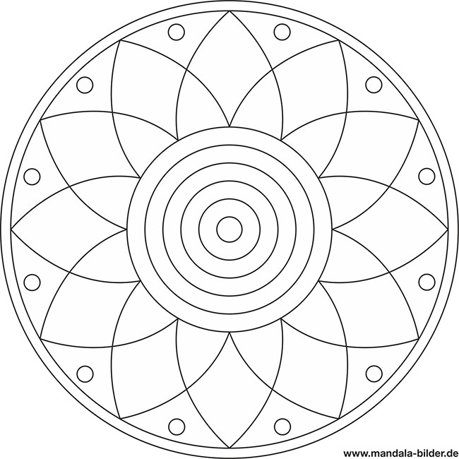 mandala ausmalbild blume  gratis download