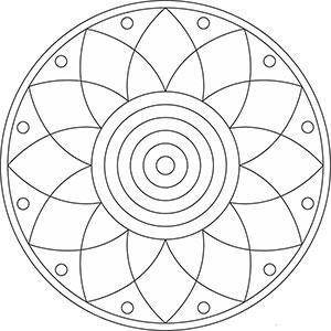 Mandala Blumen Gratis Malvorlage Für Kinder Und Erwachsene