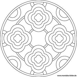 Mandala Blumen Gratis Malvorlage Fur Kinder Und Erwachsene