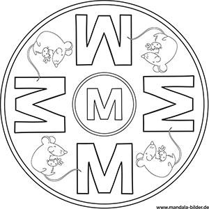 Buchstaben Mandalas   ABC Ausmalbilder zum Ausdrucken