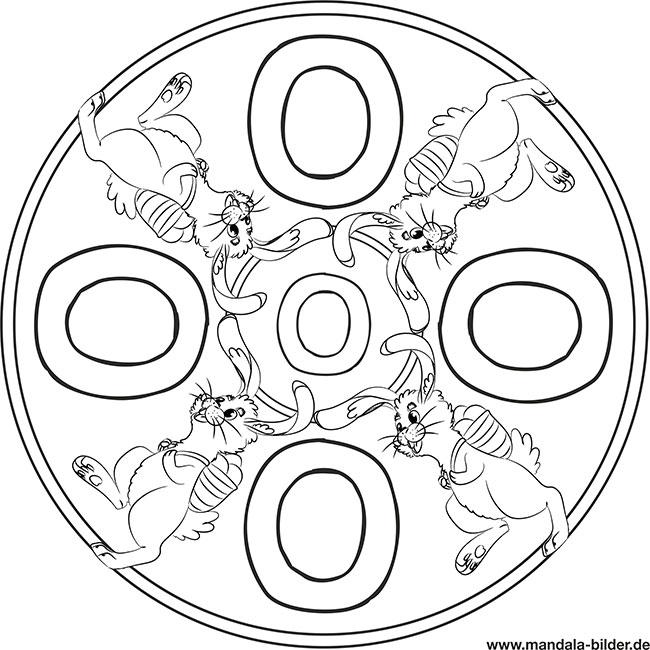 Buchstabe O Kostenloses Mandala Ausmalbild