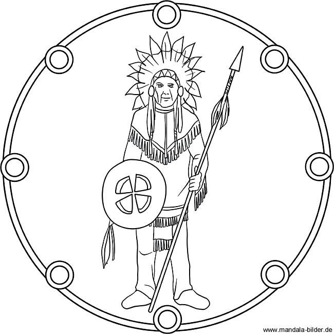 Mandala ausmalbild indianerhuptling mit kopfschmuck indianerhuptling als mandala ausmalbild altavistaventures Images