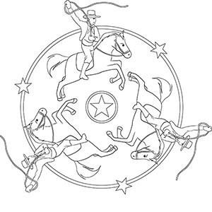 Kinder Mandala Cowboy Und Indianer Im Wilden Westen