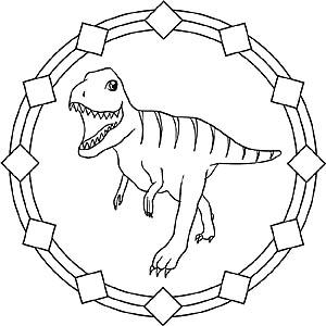 Dinosaurier und Drachen   Gratis Mandala Bilder