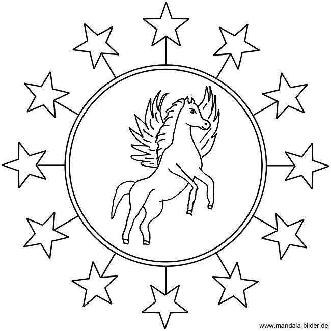 mandala zum ausdrucken pferde