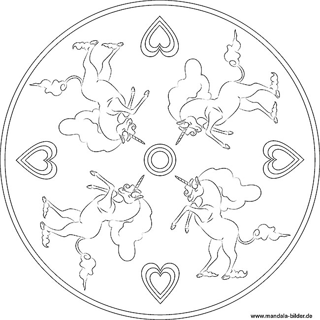 mandala einhorn | kinder ausmalbilder