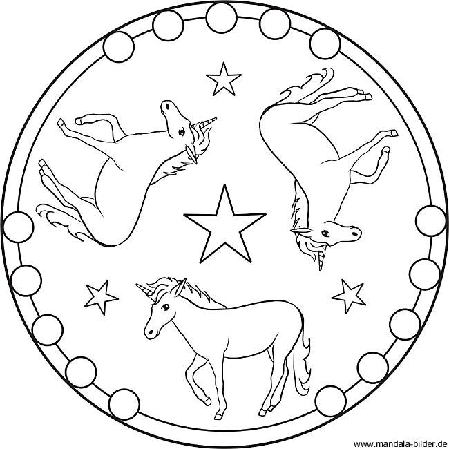 Einhorn Gratis Mandala Vorlage Und Ausmalbild Fur Kinder