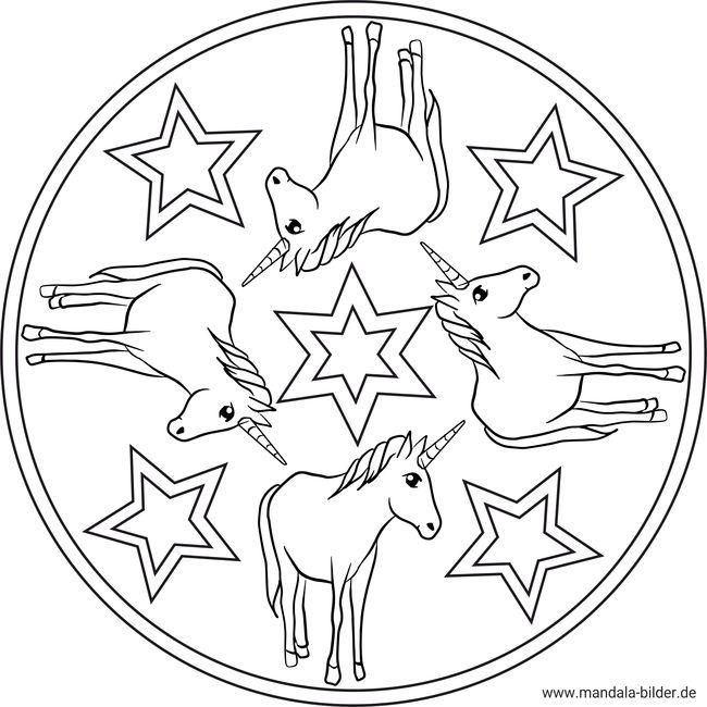 Einhorn - Ausmalbilder und Mandalas zum gratis Download