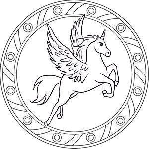 Pegasus Und Einhorn Als Kostenlose Mandalas Fur Kinder