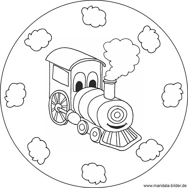 Eisenbahn Mandala Malvorlage Zum Gratis Download