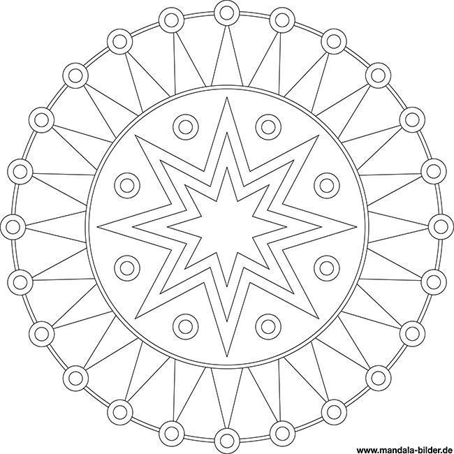 modernes mandala mit zacken zum gratis download