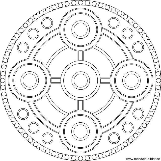 Schwere Mandala Vorlage Für Erwachsene Zum Ausdrucken
