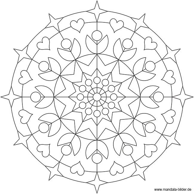 Kostenloses Mandala Für Erwachsene Zum Ausdrucken