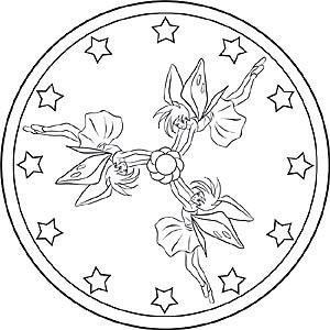 Feen Und Elfen Mandalas Für Kinder Zum Ausmalen