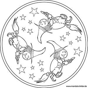 Mandalas Zu Halloween Kostenlose Ausmalbilder Für Kinder