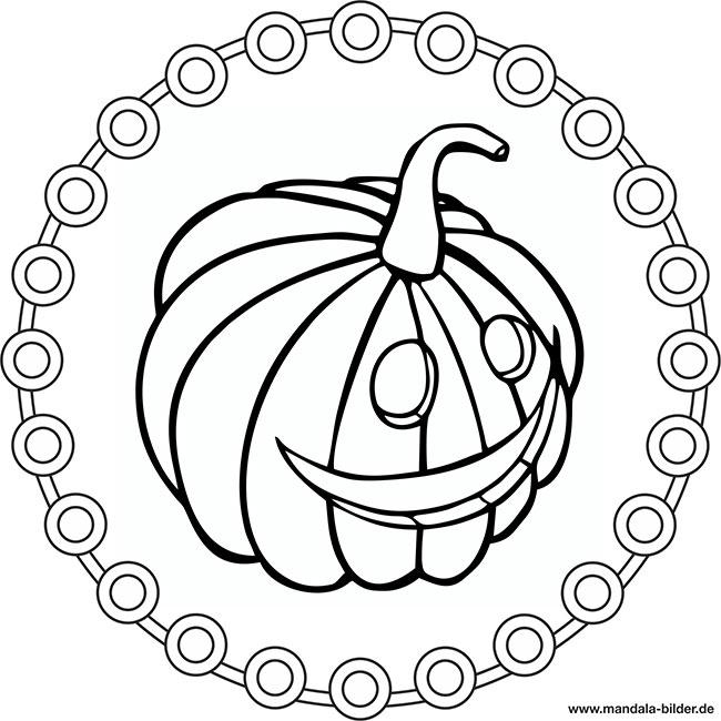 Kürbisgesicht Mandala Ausmalbild Zum Gratis Download