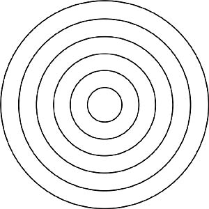 Kindergarten mandalas f r kindergartenkinder zum ausdrucken for Bullseye chart template