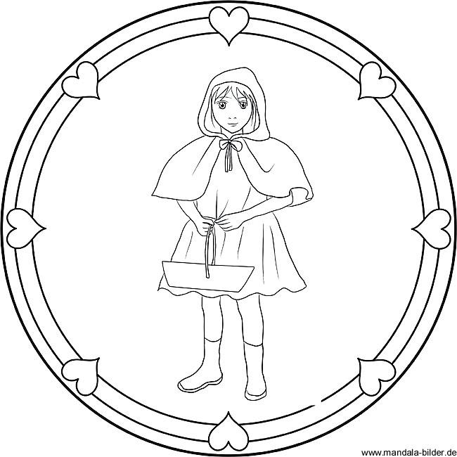 Rotkäppchen Free Mandala Märchen Für Kinder
