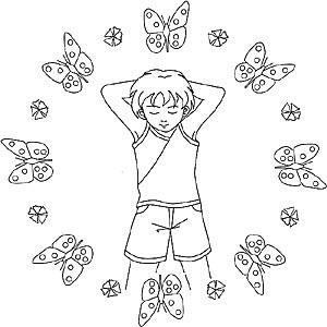 Kinder Mandalas zum Thema Menschen und Gesichter