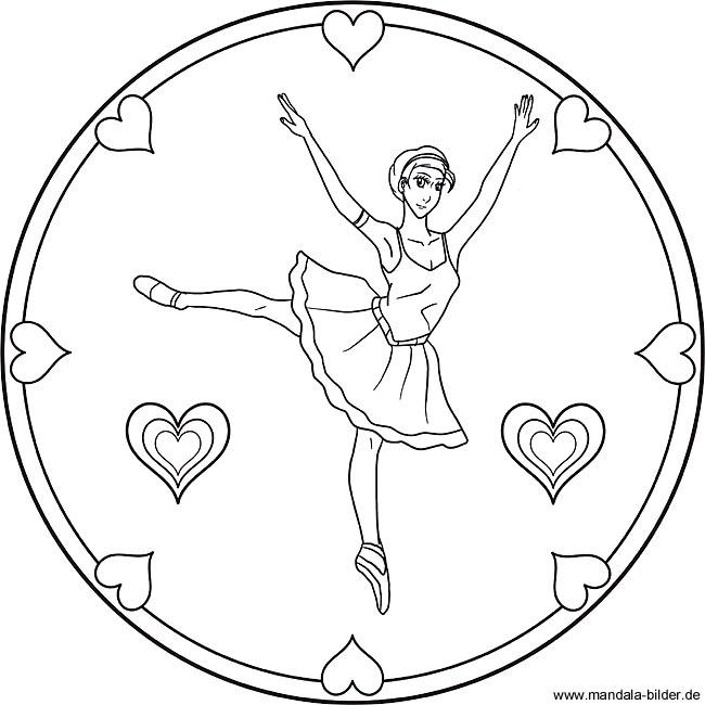 Ballerina Mandala Ballett Ausmalbild Für Kinder