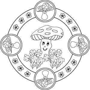 natur und jahreszeiten - mandalas zum ausdrucken