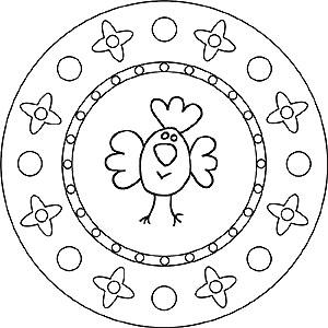 Mandalas Zu Ostern Mit Dem Osterhasen Und Ostereiern