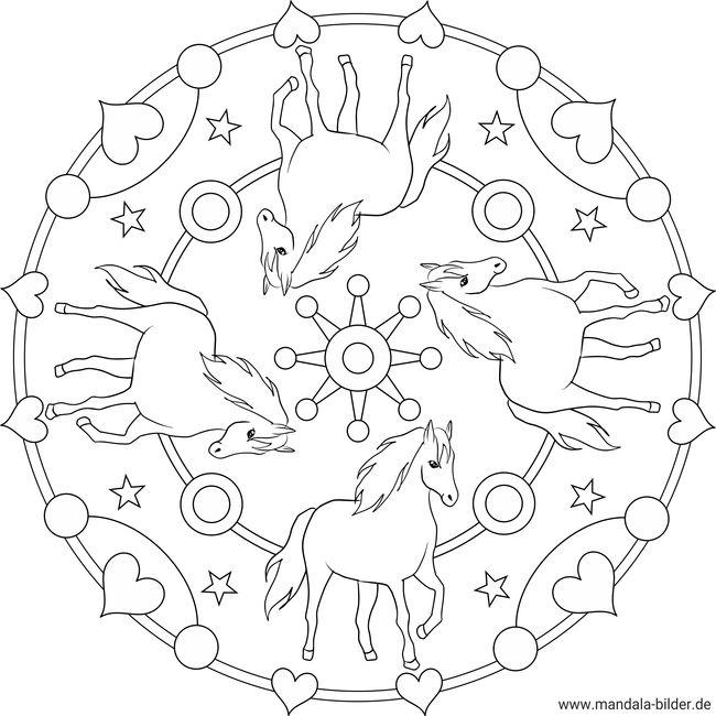 Malvorlagen Mandala Pferde Kostenlos My Blog
