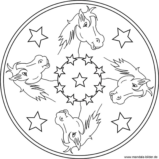 Mandala Pferde Vorlagen Für Kinder Zum Kostenlosen Download