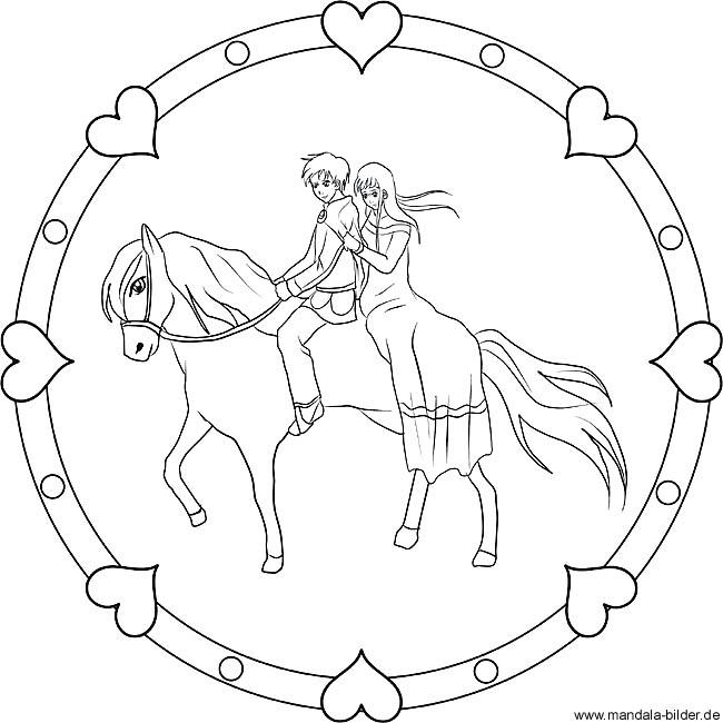 Auf pferd prinz ausmalbild Malvorlage Prinz