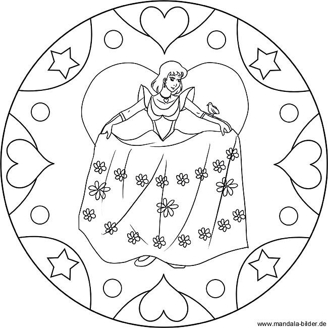 Prinzessin Mandala Malvorlage Zum Ausdrucken Und Ausmalen