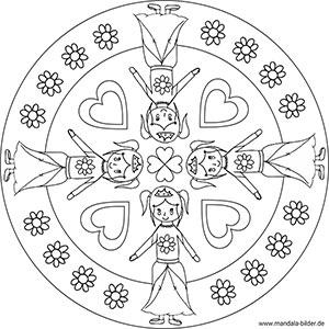 Prinzessin Mandala Zum Ausdrucken Und Ausmalbild