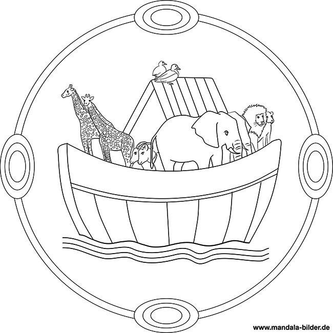 Arche Noah Mandala Religion Zum Ausdrucken