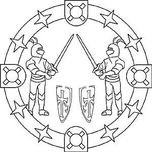 Ritter Und Ritterburgen Mandala Vorlagen Für Kinder