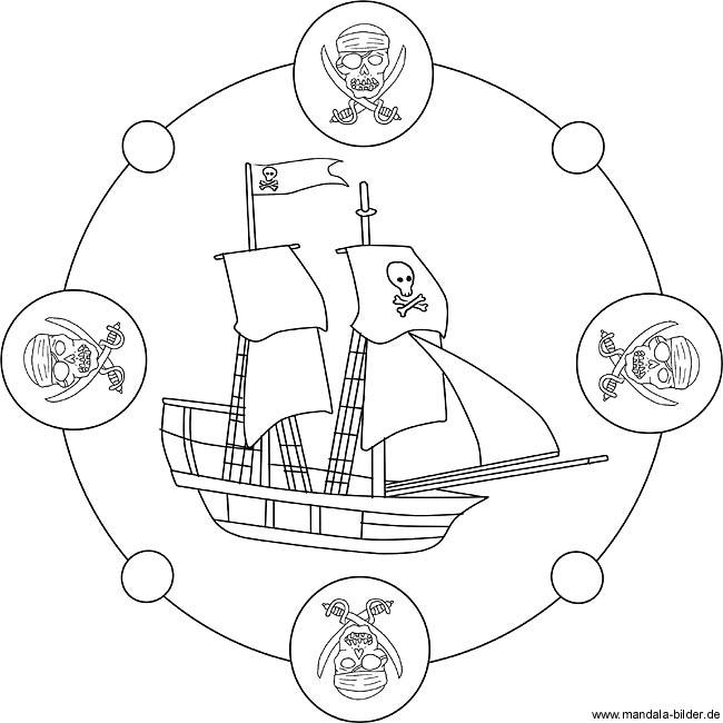 Piratenschiff Ausmalbild Für Kinder Zum Ausdrucken