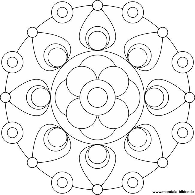 Malvorlagen für Senioren - kostenloses Mandala