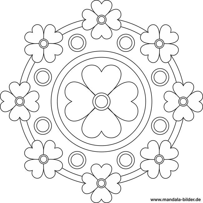Mandala Vorlagen für Senioren mit Blumen