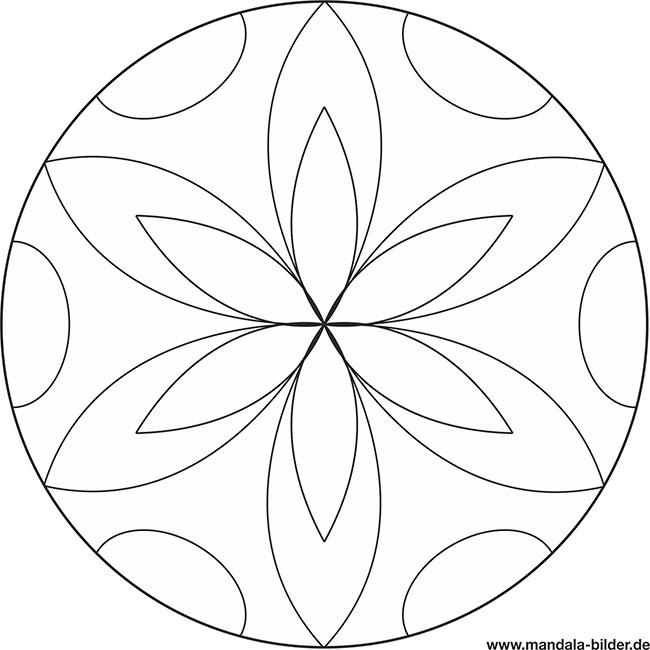 Mandala Für Senioren Einfaches Motiv Zum Ausmalen