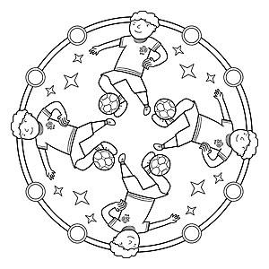 Sport Mandala Ausmalbilder Zum Kostenlosen Ausdrucken