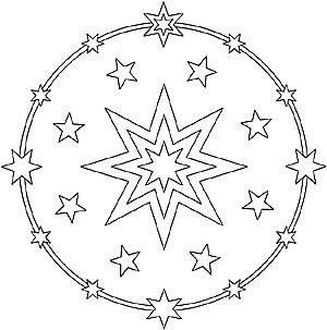 Sonne Mond Und Sterne Mandalas Fur Kinder Und Erwachsene