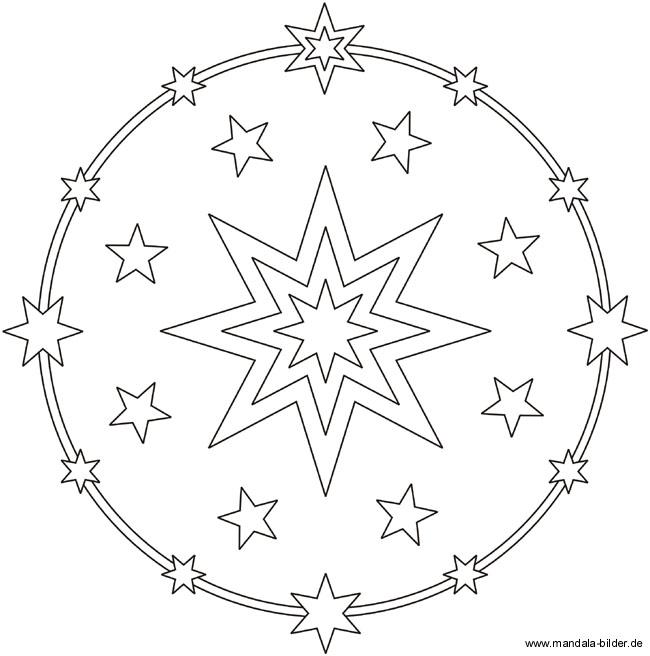 ausmalbild mit vielen sternen zum ausdrucken