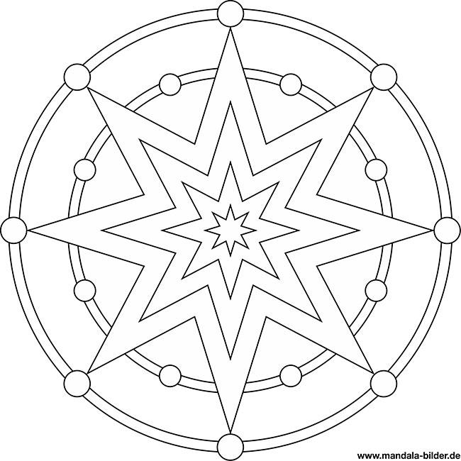 Malvorlage Stern Einfach - Malbild
