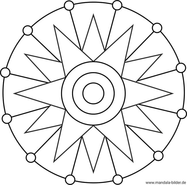 mandala stern  ausmalbild zum ausdrucken