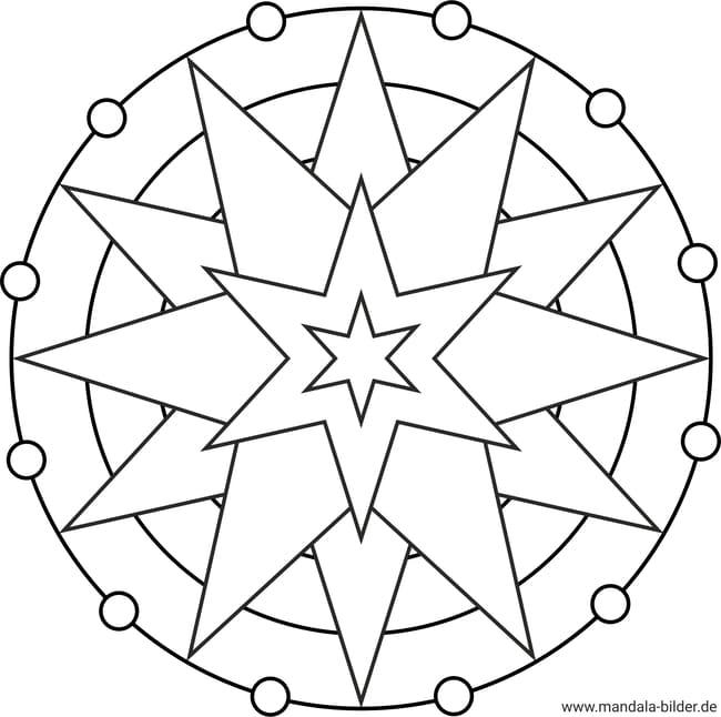 mandala stern  ausmalbilder zum ausmalen