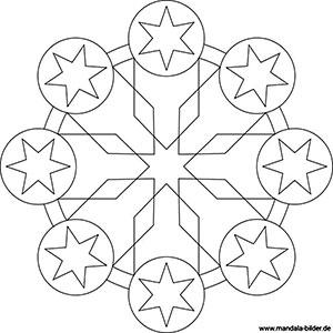 Sonne Mond Und Sterne Mandalas Für Kinder Und Erwachsene
