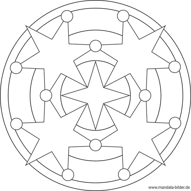 mandala mit sternen zum ausdrucken