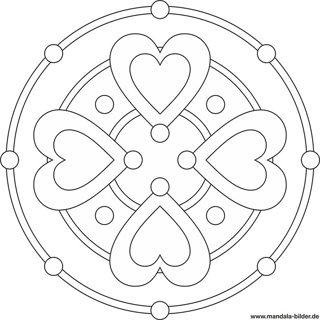 Niedlich Einfache Herz Mandala Malvorlagen Fotos - Framing ...