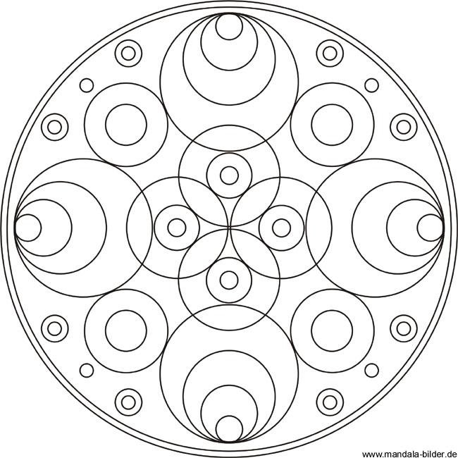 Mandala Malvorlage Mit Kreisen